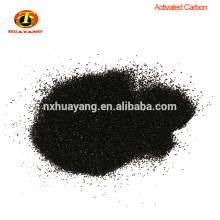 Carbón activado de cáscara de coco granular con alta dureza