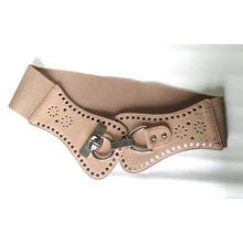 Cinturón de cintura elástica con hebilla perforada para señoras