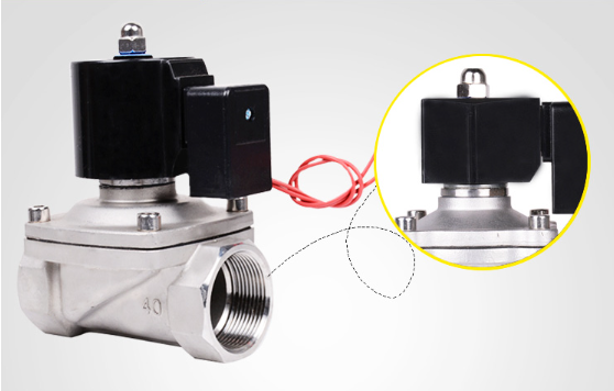 Detail enlargement of 2S025-08 pneumatic solenoid valve