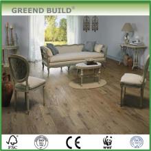 Piso de madeira maciça de carvalho resistente ao desgaste