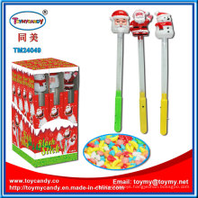 Plastic Santa Bar Lighting Musical Toy with Candy