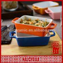 Tazón de fuente colorido abastecido promocional de la hornada de la cerámica con el embalaje de la caja de color