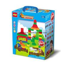 Jardim Escola Farm Police Puzzle Toy Tijolos para Brinquedos Educativos