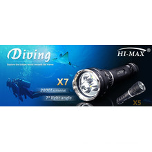 High Quality Cree T6 Led Flashlight 3000 Lumens rechargeable 26650 battery dive light led diving flashlights