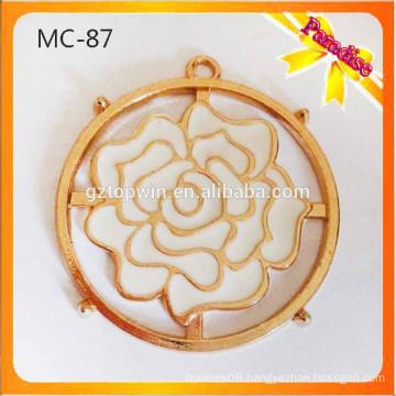 MC87 Custom Garment flower metal accessories for metal tag