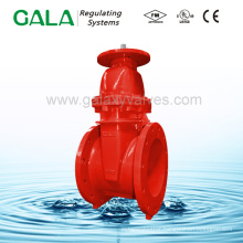 Ductile Iron UL FM approved stem gate valve with resilient seat