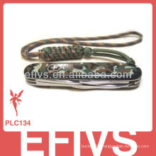 2013 Soldiers Paracord lanyard knot knife made in China
