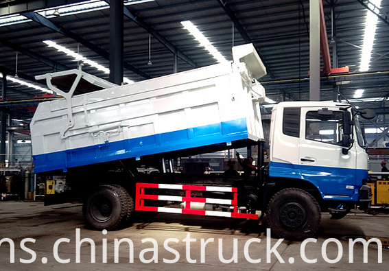 16CBM tipper refuse container truck