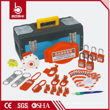 Safety lockout combination bag BD-Z14,LOTO BAG with padlock ,hasp ,breaker lockout ,plug lockout