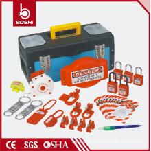 Saco de combinação de bloqueio de segurança BD-Z14, LOTO BAG com cadeado, hasp, bloqueio do disjuntor, bloqueio do plugue