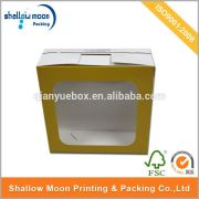 Wholesale high quality paper box with clear plastic cover