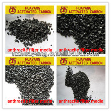 Moisture 4%max Worthy product Huayang AFM-015 anthracite filter media SALE