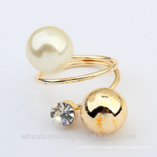 Vogue metal ball pearl ring für Frauen made in China