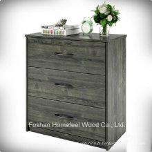 Mobiliário de quarto moderno 3 Drawer Cloth Storage Chest Dresser Organizer