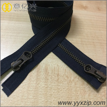 fashion two sided anti brass metal zipper