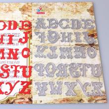 2016 Garn innen 26 Buchstaben Form Druckguss für Kinder/DIY