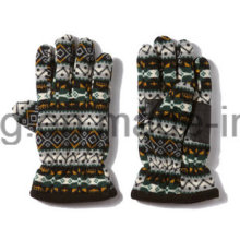 Cheap Warm Polar Fleece Impresso Luvas / Mittens