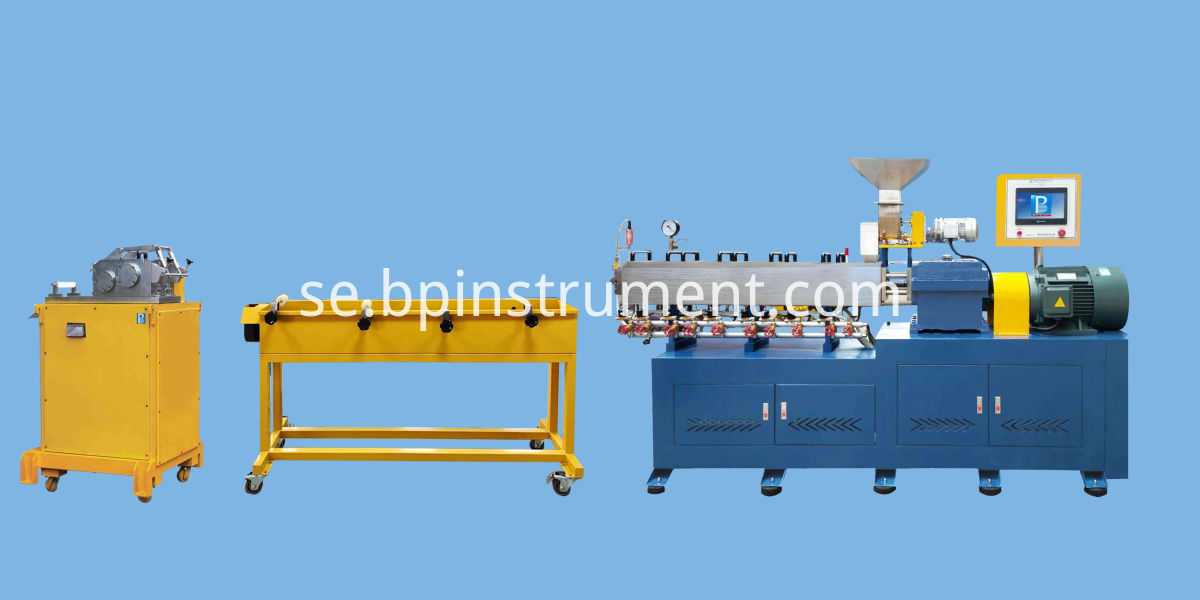 Twin screw extrusion granulation line / PLC control