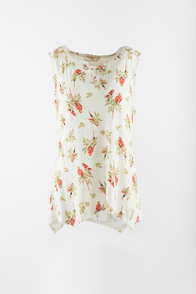 Rayon shirt with sleeveless
