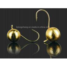 Круглый шар Вольфрамовая Мормышка в Золотой цвет для рыбалки