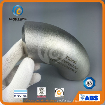 90d Lr Wp304/304L Elbow Butt Weld Pipe Fitting with Ce (KT0319)