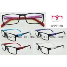 Nova moda plástico óculos etewearframe moldura óptica (wrp411382)