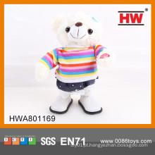 Engraçado urso de pelúcia brinquedo elétrico de pelúcia brinquedo brinquedo urso