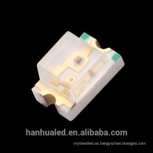 LED SMD 0805 Rojo / Naranja / Amarillo / Amarillo Verde / Verde puro / Azul / Púrpura (CE y RoHS)