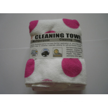Weft Knitting cleaning Towel with Printing