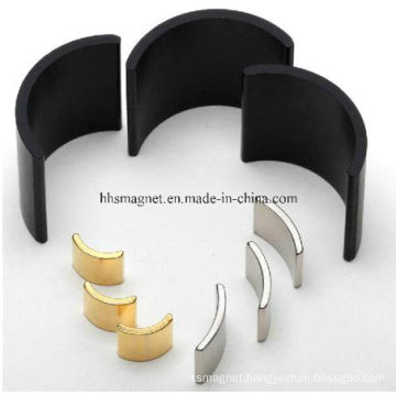 Neodymium Magnets, Arc Segment Shape for Motor with Customized Plating