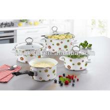 enamel cookwing pot set with bakelite handle