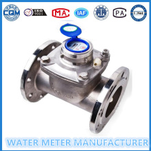 Wet Dial Stainless Steel Water Flow Meter Dn100mm