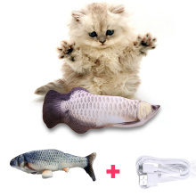 Catnip Cat Fish Toy Fish Plush Interactive Cat Toy Chew Pillow Pet Electric Cat Toy