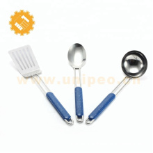 Best for outdoor cooking 3 pieces kitchen utensils set with unique handle
