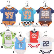 Top venda bebê Onesie bebê esportes estilo impresso Romper Baby Boy macacões