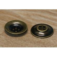 Botón metálico de bronce antiguo para botones de metal / botones de metal para el cuero