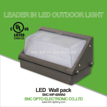 SNC UL CUL 60w LED Wall Pack Light IP65 Popular in USA Market
