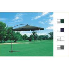 Solar Patio Metal Cantilever Commercial Outdoor Umbrellas H