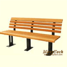 Деревянные пластиковые композитные открытый Лонг Парк-стрит скамья 1500X510X750mm