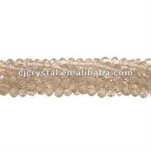 String granos de cristal, granos rondelle fábrica, granos de cristal de alta calidad