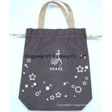 Dye Color Tote Cotton Bag with Cord