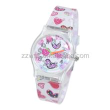 China wholesale cheap PVC strap kid gift colour quartz watch