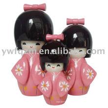 Fancy Wood Crafts Recuerdos japoneses de la boda de la muñeca