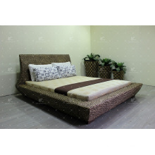 Luxury Natural Water Hyacinth Wicker Furniture Bedroom Set