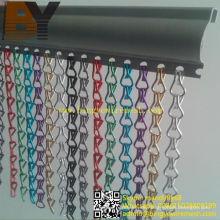 Colgando diseños de cortinas de pantalla de mosca de aluminio de cadena para el Reino Unido