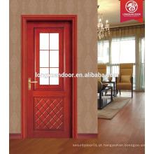 Nova porta de madeira de vidro de desgin, porta e janelas de madeira maciça, porta de madeira maciça moderna