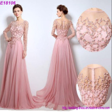 Wholesale New Arrival Sexy Long Sleeve Women Beaded Evening Dress