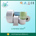 Shanghai direct thermal linerless label paper roll