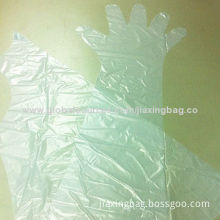 Transparent long sleeve gloves, OEM orders are welcome