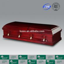China Casket Manufacturers LUXES Cheap Veneer Casket For Sale